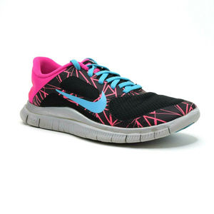 Nike Free 4.0 V3 Women's Shoes Size 7.5 Black Pink